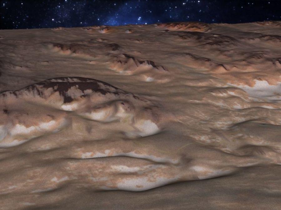 外星人地形火星山脉 royalty-free 3d model - Preview no. 14