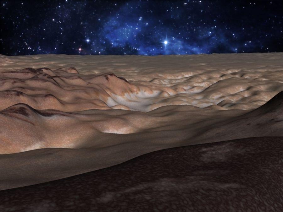 外星人地形火星山脉 royalty-free 3d model - Preview no. 8