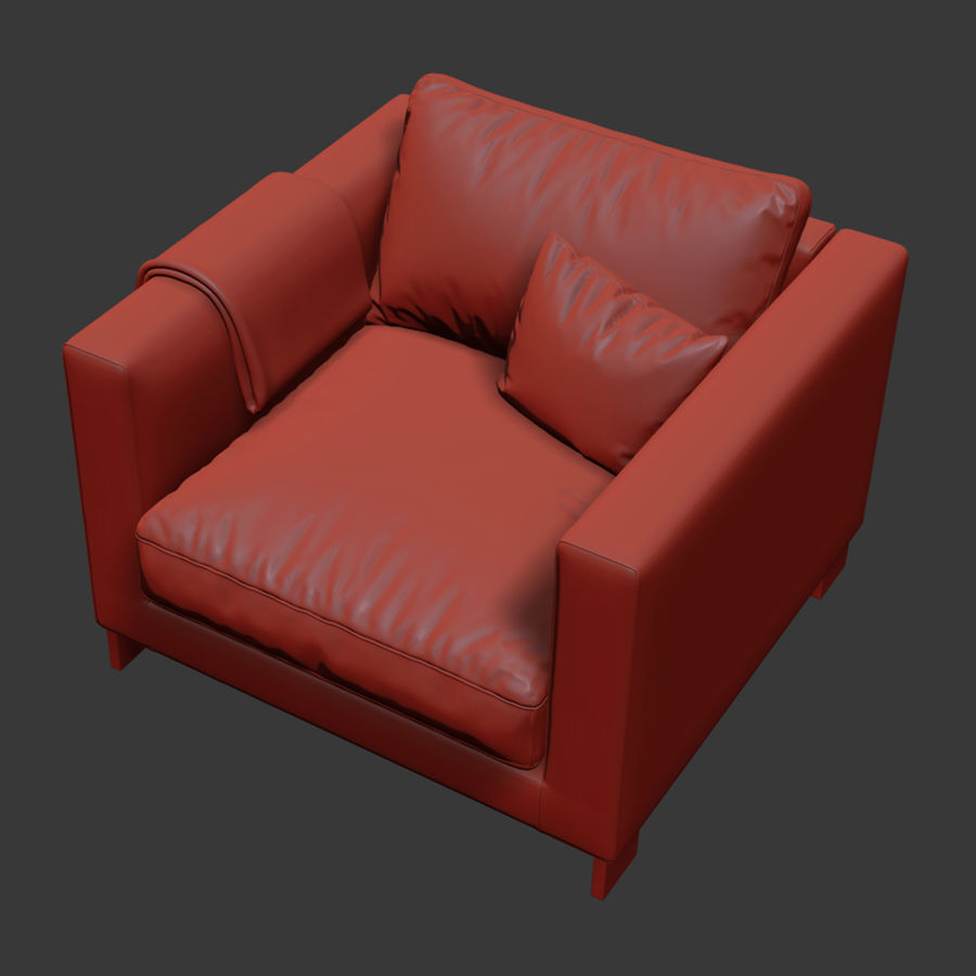 Molteni&Cリバーシアームチェア royalty-free 3d model - Preview no. 7