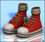 Trendy Sneakers Cartoon 3d model