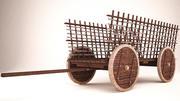drewniany wózek 3d model