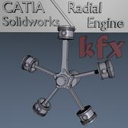 Radyal motor 3d model