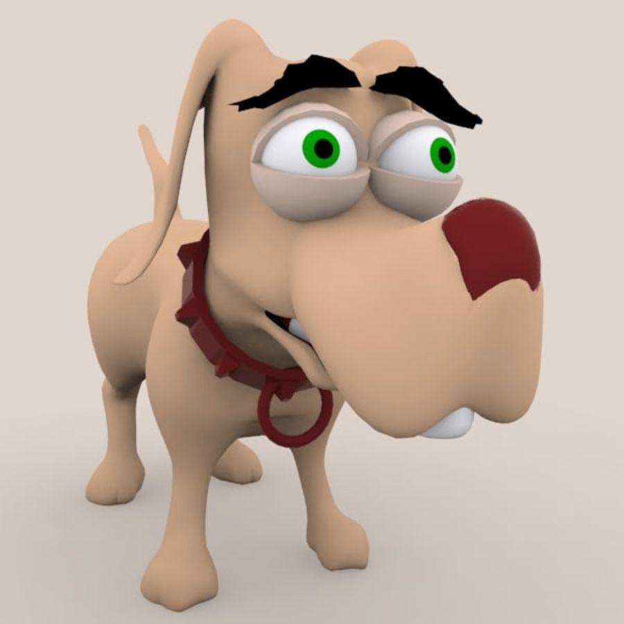 cão dos desenhos animados royalty-free 3d model - Preview no. 7