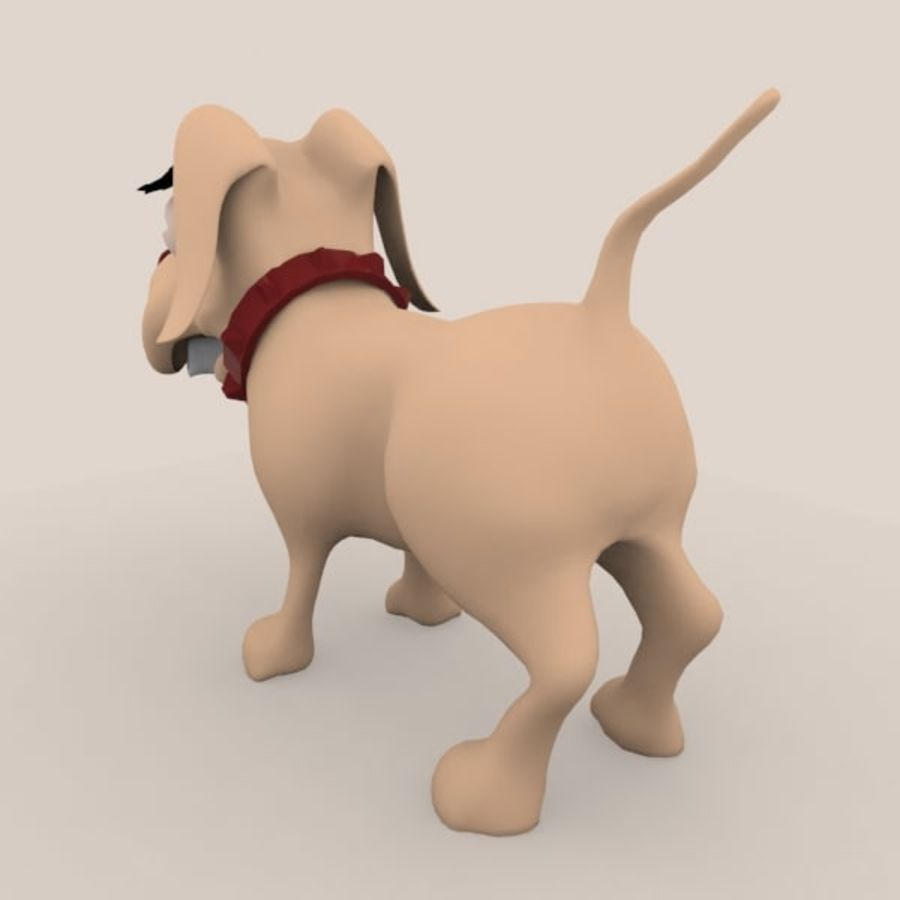 cão dos desenhos animados royalty-free 3d model - Preview no. 5