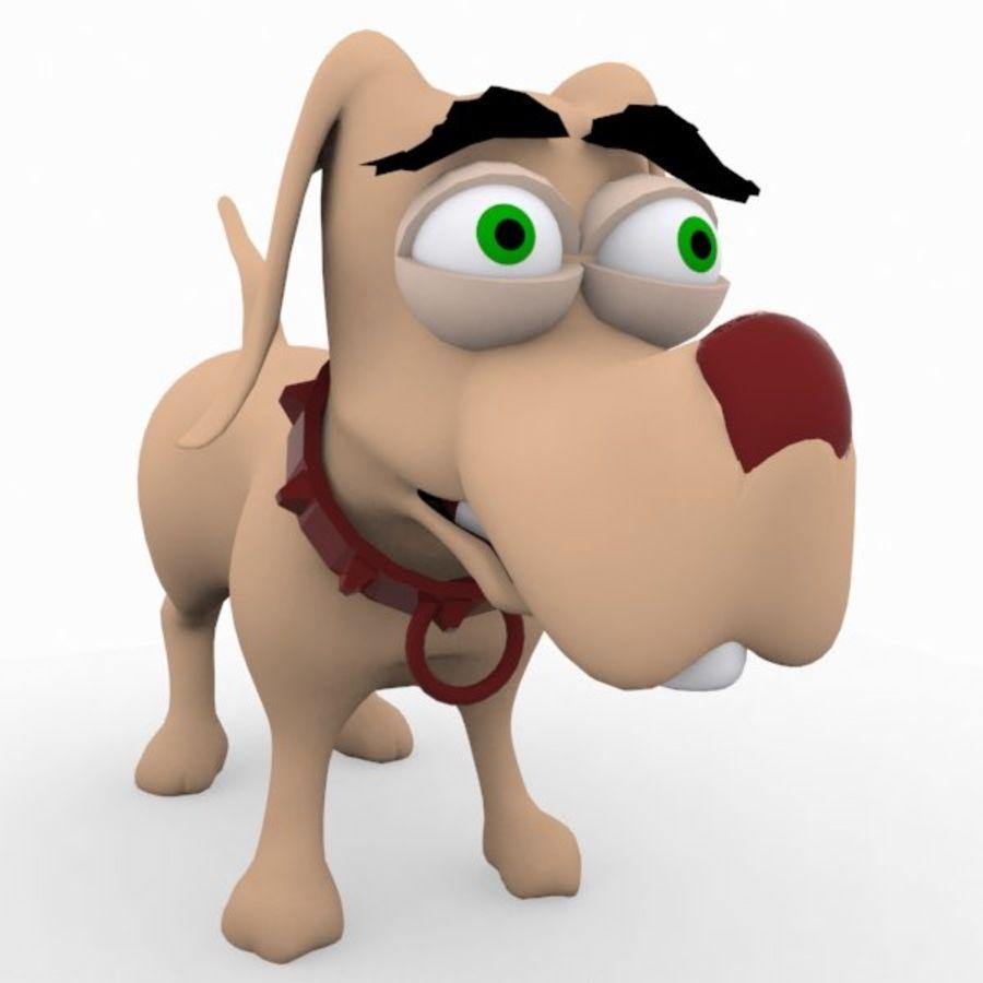 cão dos desenhos animados royalty-free 3d model - Preview no. 1