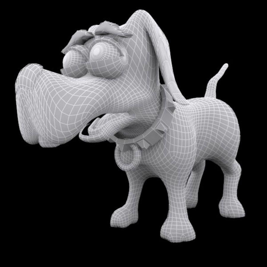 cão dos desenhos animados royalty-free 3d model - Preview no. 10