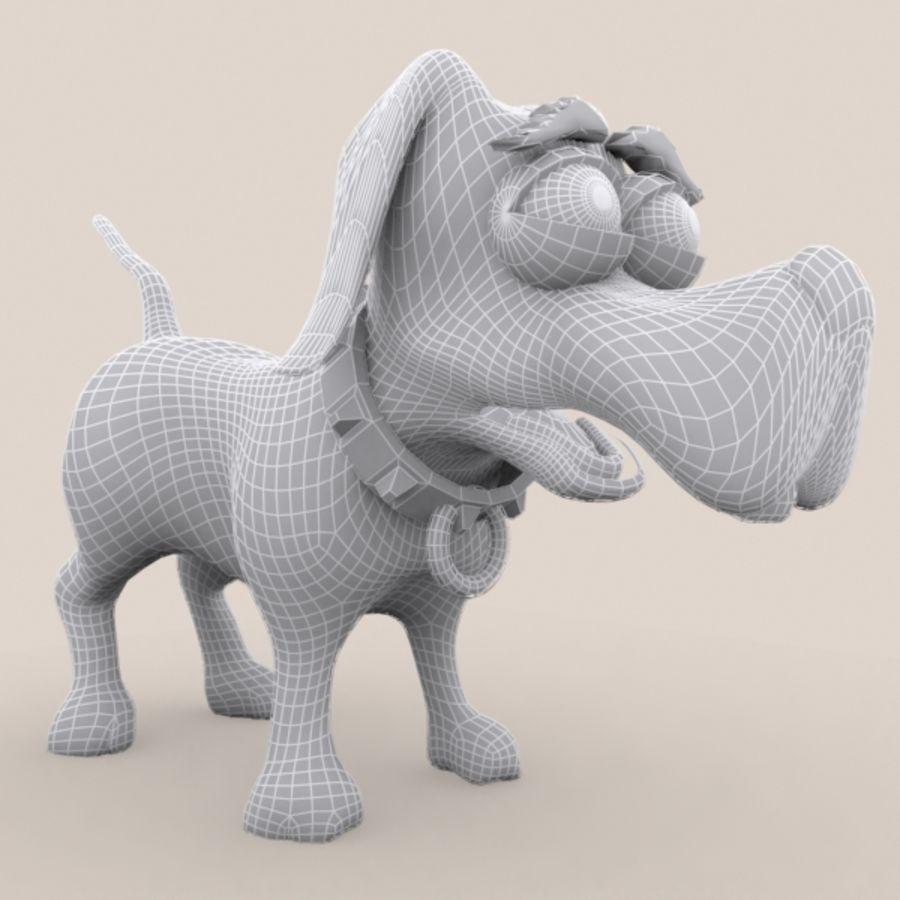 cão dos desenhos animados royalty-free 3d model - Preview no. 9