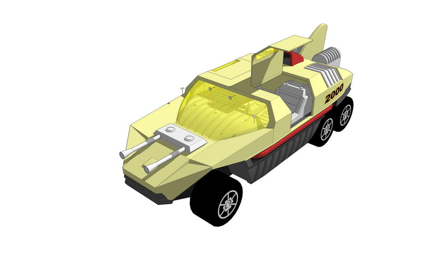 Flight Hunter royalty-free 3d model - Preview no. 4