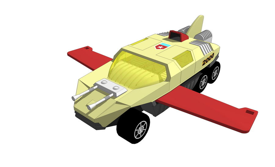 Flight Hunter royalty-free 3d model - Preview no. 1