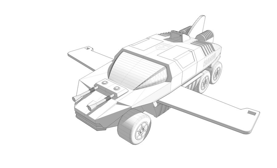 Flight Hunter royalty-free 3d model - Preview no. 3