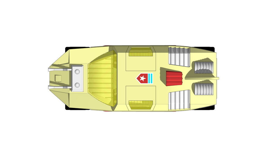Flight Hunter royalty-free 3d model - Preview no. 5
