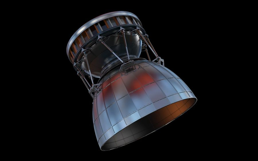 Rocket Booster Engine royalty-free 3d model - Preview no. 3