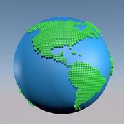 Świat w kropkach 3d model