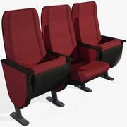 戏剧扶手椅低+高聚 3d model