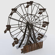 Old Abandoned Ferris Wheel 3d model