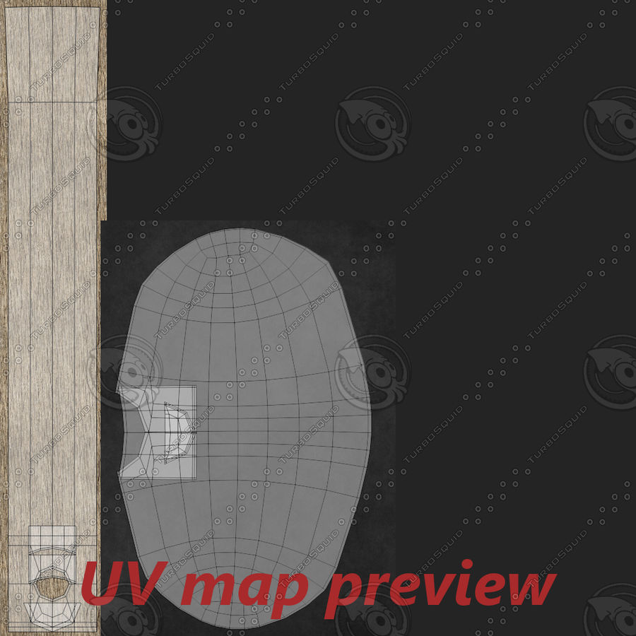 Rubber mallet two royalty-free 3d model - Preview no. 11