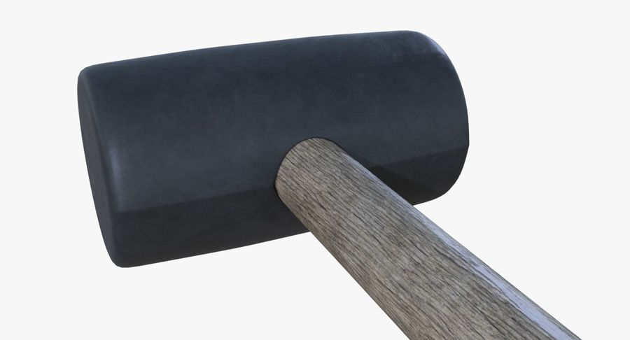 Rubber mallet two royalty-free 3d model - Preview no. 5