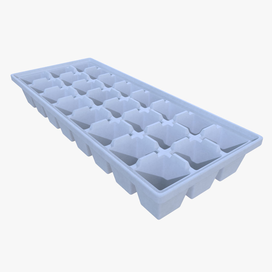 Ice cube tray four royalty-free 3d model - Preview no. 1