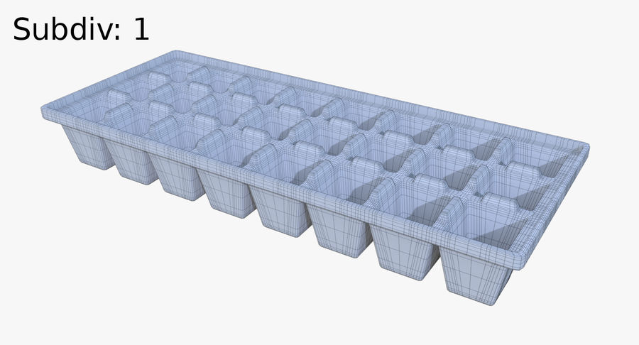 Ice cube tray four royalty-free 3d model - Preview no. 9