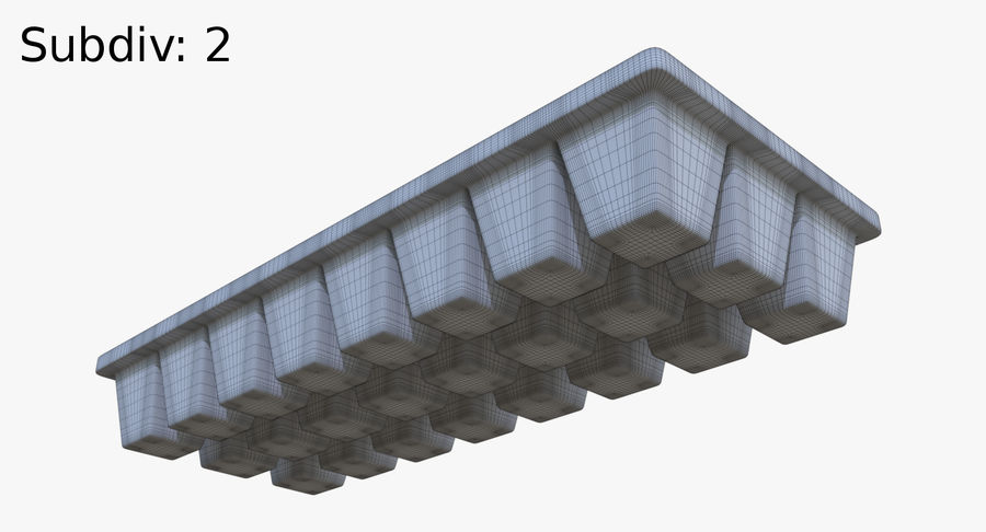 Ice cube tray four royalty-free 3d model - Preview no. 13