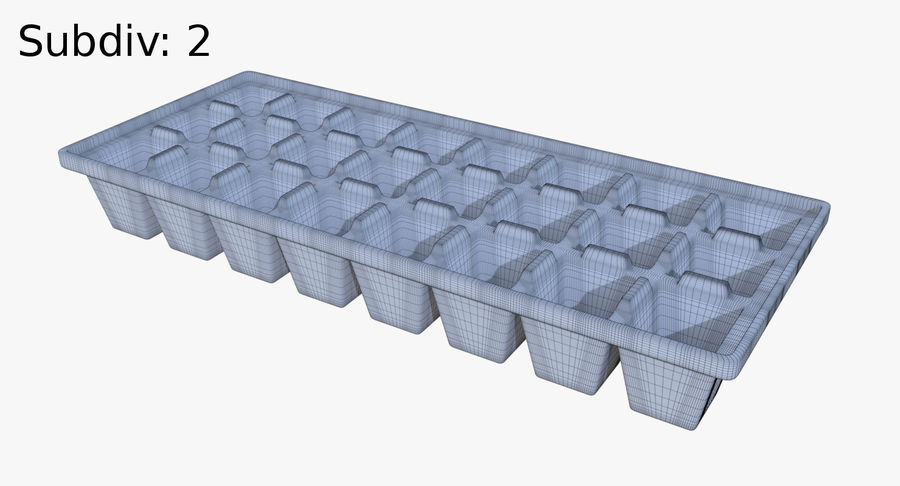 Ice cube tray four royalty-free 3d model - Preview no. 10