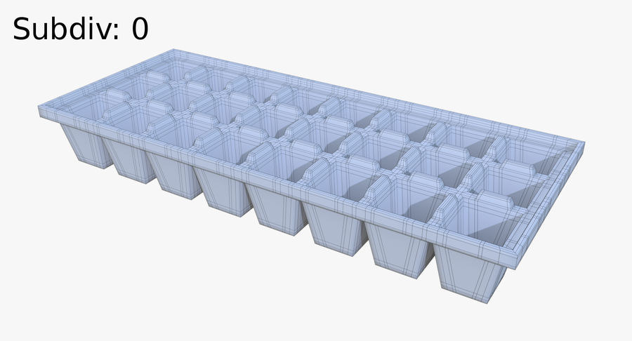 Ice cube tray four royalty-free 3d model - Preview no. 8