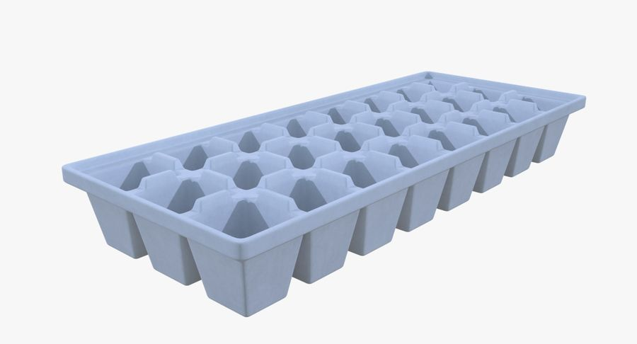 Ice cube tray four royalty-free 3d model - Preview no. 3