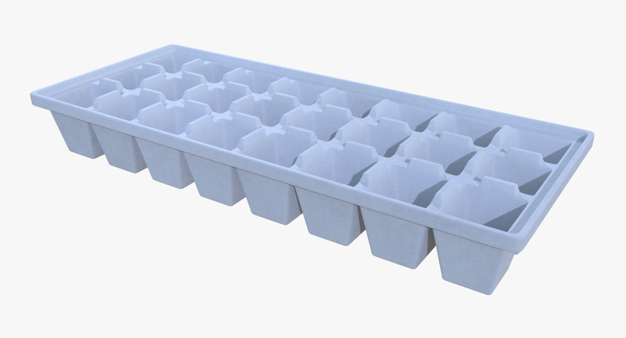Ice cube tray four royalty-free 3d model - Preview no. 2