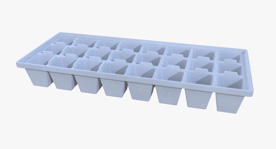 Ice cube tray four royalty-free 3d model - Preview no. 4