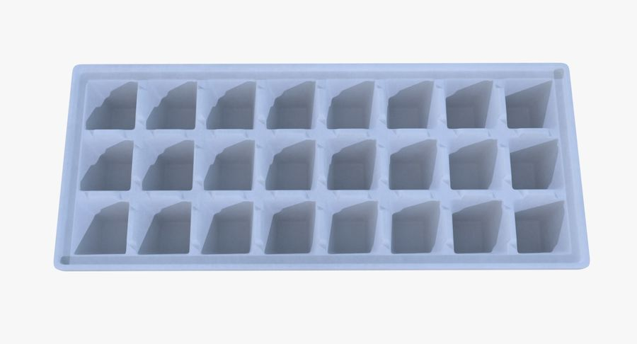 Ice cube tray four royalty-free 3d model - Preview no. 6