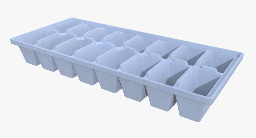 Ice cube tray two royalty-free 3d model - Preview no. 2