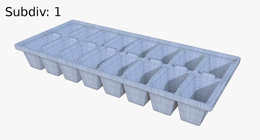 Ice cube tray two royalty-free 3d model - Preview no. 9