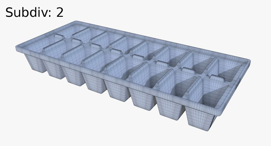 Ice cube tray two royalty-free 3d model - Preview no. 10