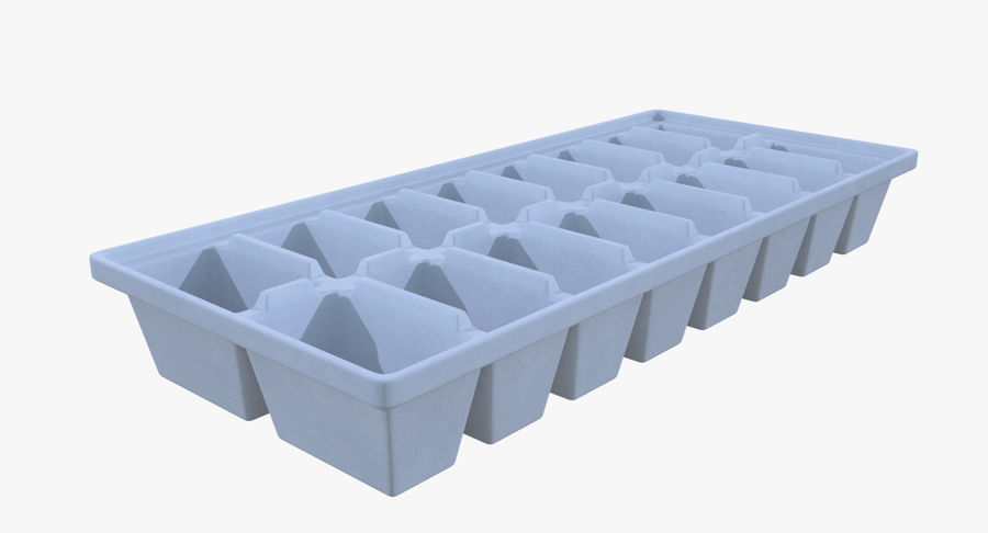 Ice cube tray two royalty-free 3d model - Preview no. 3