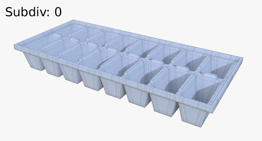 Ice cube tray two royalty-free 3d model - Preview no. 8