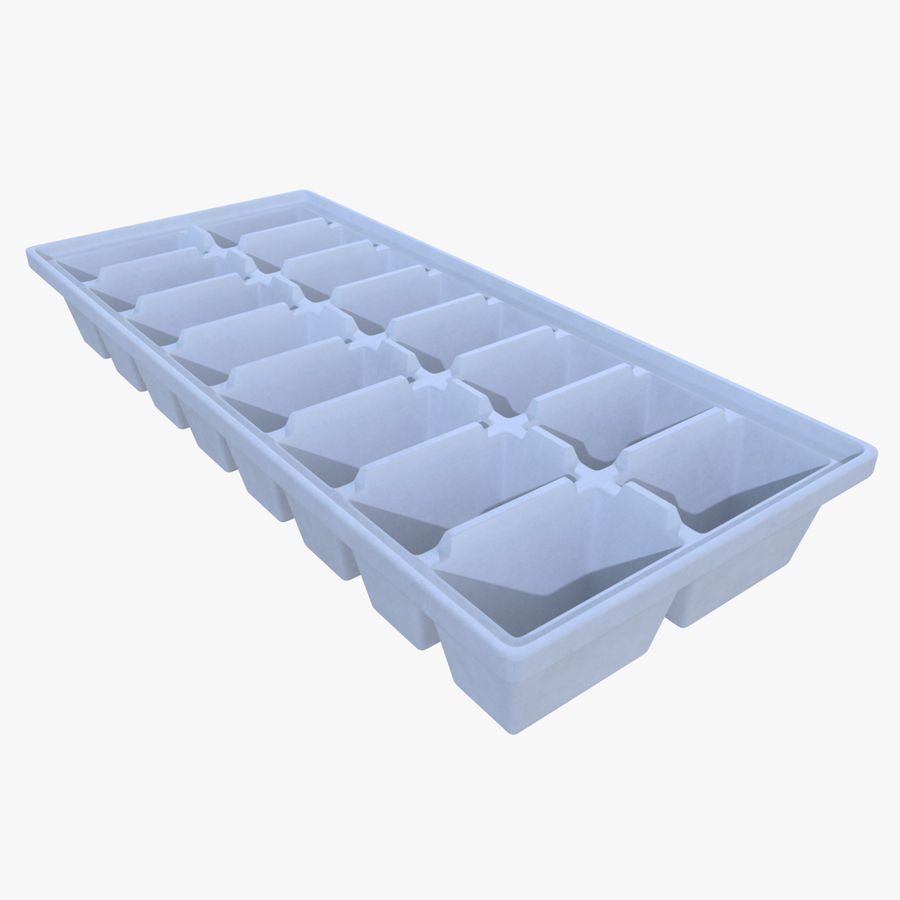 Ice cube tray two royalty-free 3d model - Preview no. 1