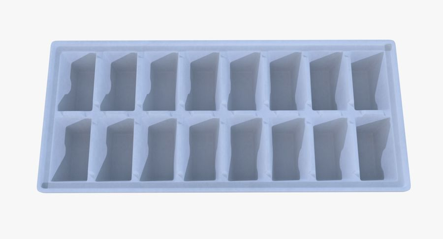 Ice cube tray two royalty-free 3d model - Preview no. 6