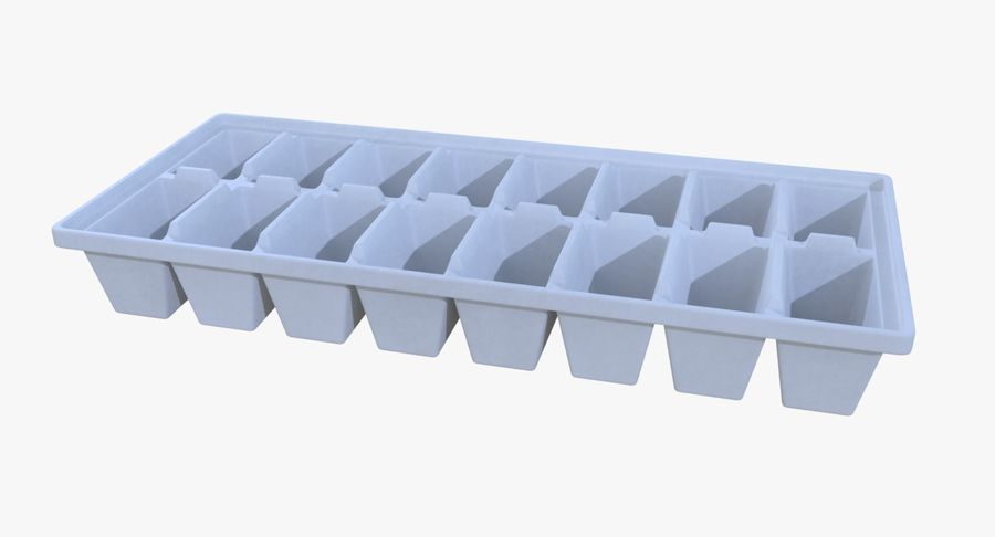 Ice cube tray two royalty-free 3d model - Preview no. 4