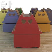 Commode Cats in Love 3d model
