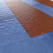 Materac podłogowy do siłowni 3d model