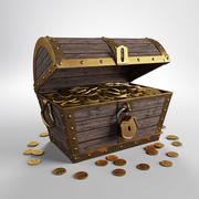 Chest Of Gold 3d model