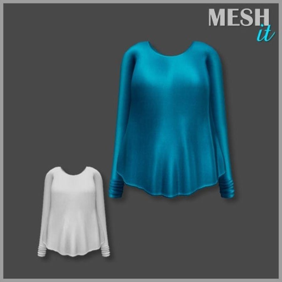 Sweatshirt Blue royalty-free 3d model - Preview no. 1
