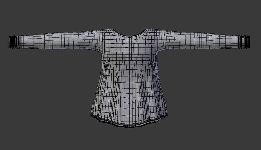 Sweatshirt Blue royalty-free 3d model - Preview no. 12