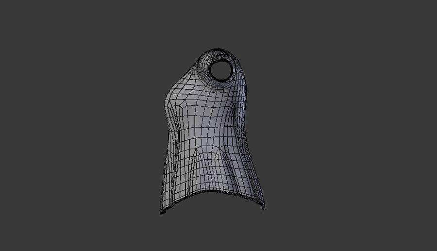 Sweatshirt Blue royalty-free 3d model - Preview no. 11