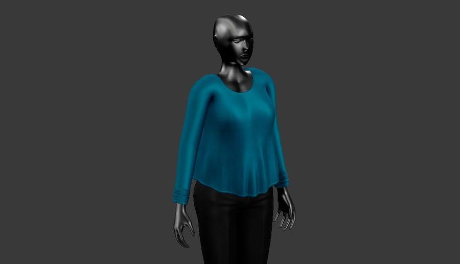 Sweatshirt Blue royalty-free 3d model - Preview no. 2