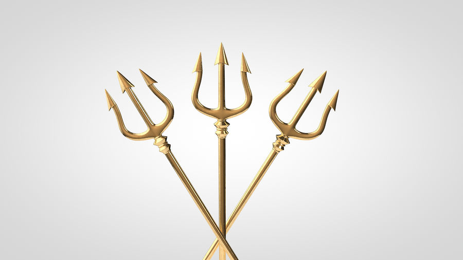 Poseidon Trident royalty-free 3d model - Preview no. 4