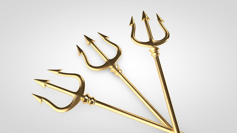 Poseidon Trident royalty-free 3d model - Preview no. 2