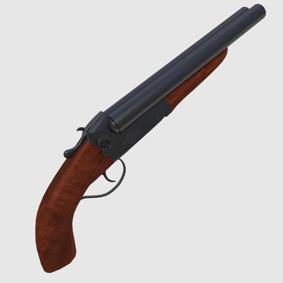 Sawed Off Shotgun royalty-free 3d model - Preview no. 1