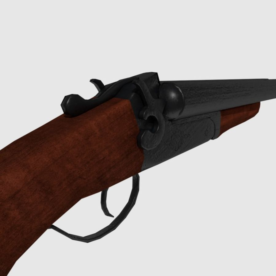 Sawed Off Shotgun royalty-free 3d model - Preview no. 2