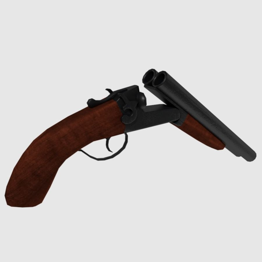 Sawed Off Shotgun royalty-free 3d model - Preview no. 4